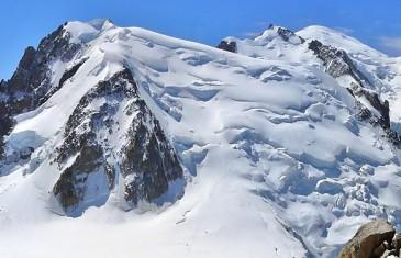 Aiguille du Midi ski pente raide