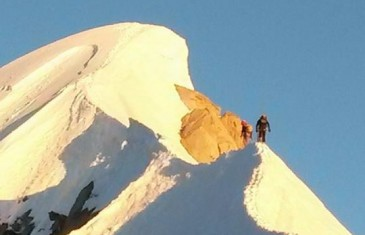 Aiguille Verte, couloir Whymper