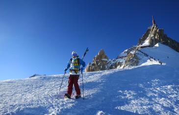 Descente à skis de la Vallée Blanche