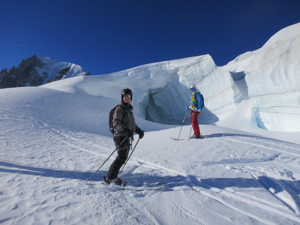 au milieu du glacier