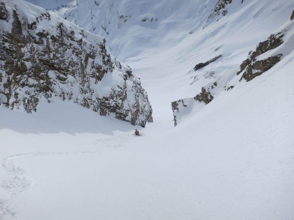couloir sud de la golette excellentes conditions