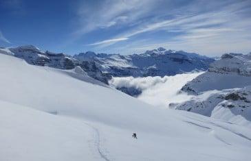 raid à skis Dents Blanches-Dents du Midi