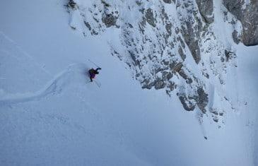 ski de pente raide voie jacottet 5.1 E4, Linleu 4.3 E3, pointe d'Arvouin 5.1 E2