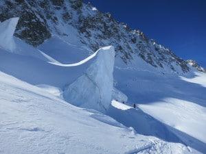 descente au milieu du glacier