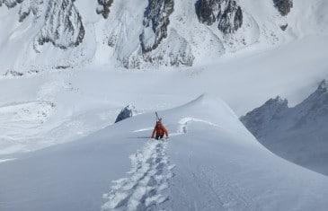 ski de pente raide aiguille verte les Z voie Washburn