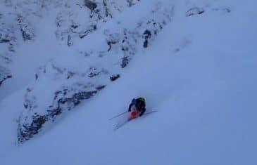 ski de pente raide dans les portes du soleil